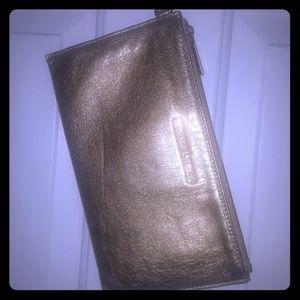 Gold clutch wristlet Micheal Kors